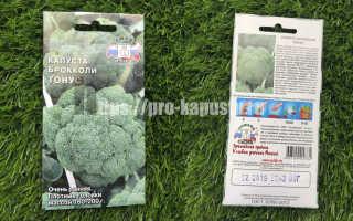 Капуста брокколи 'Тонус' — описание сорта, характеристики