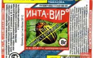Интра-вир – препарат от 50 видов насекомых-вредителей